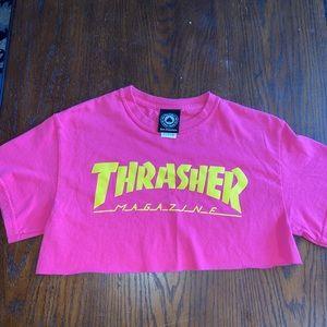 Thrasher crop top tee